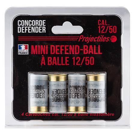 Balle De Fusil Concorde Defender Mini Defend Ball Elastomere Bior - Calibre 12/50