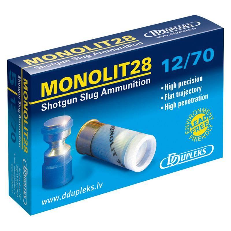Balle De Fusil Ddupleks Monolit - 28G - Calibre 12/70