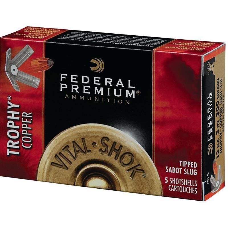 Balle De Fusil Federal Premium Vital Shok Trophy Copper - 18G - Calibre 20