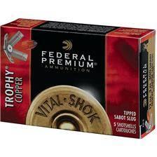 Balle de fusil federal premium vital shok trophy copper - 20g - calibre 12
