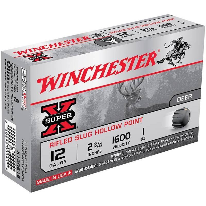 Balle De Fusil Winchester Slug Super X Rifled - 28G - Calibre 12