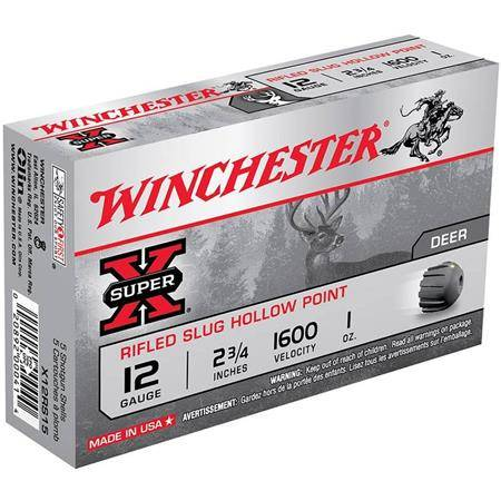 Balle De Fusil Winchester Slug Super X Rifled Hp - 21G - Calibre 20