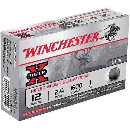 Balle De Fusil Winchester Slug Super X Rifled Hp - 28G - Calibre 12