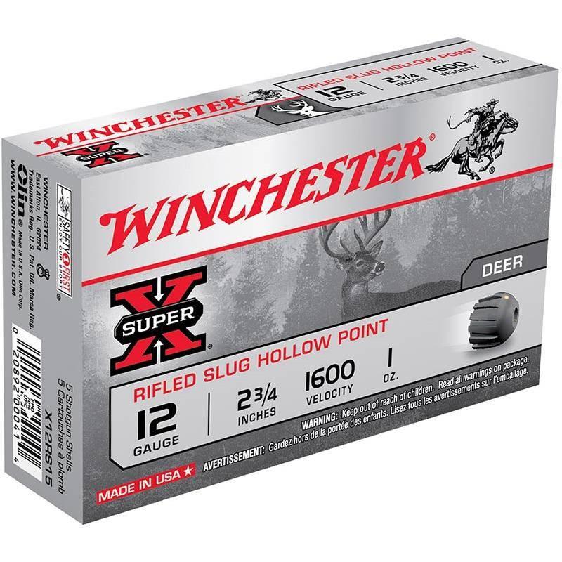 Balle De Fusil Winchester Slug Super X Rifled Hp - 6G - Calibre 410
