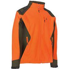 Blouson homme percussion predator softshell - orange