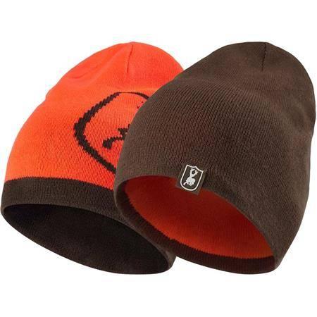 Bonnet Deerhunter Cumberland Knitted Beanie Reversible - Orange