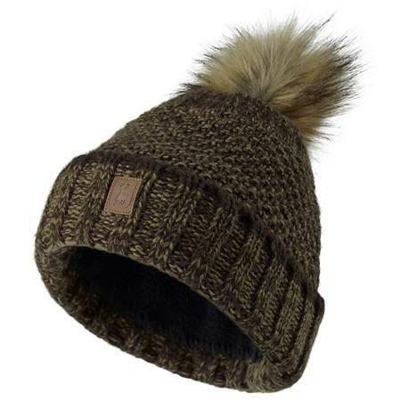 Bonnet Femme Deerhunter Lady Knitted Hat - Kaki