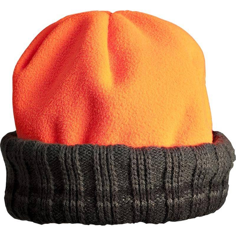 Bonnet Homme Browning Polar Fleece Reversible - Orange/Vert