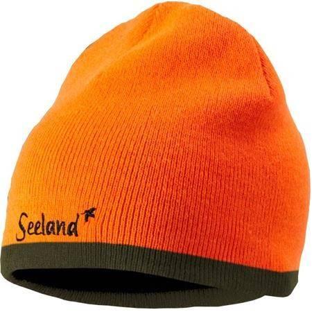 Bonnet Homme Seeland Ian Reversible - Orange/Vert