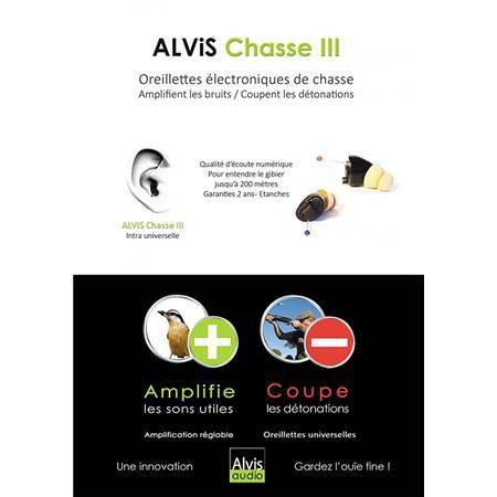 BOUCHONS D'OREILLES ALVIS CHASSE III