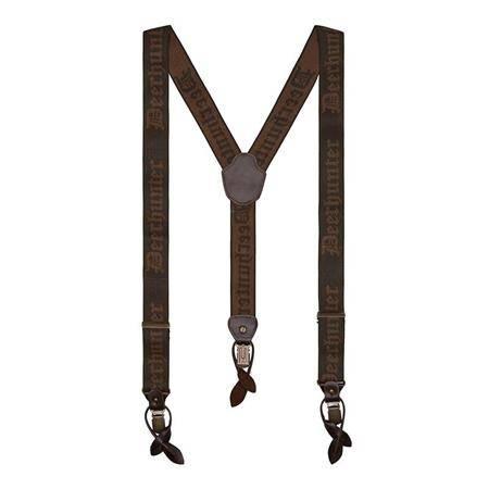 Bretelles Deerhunter Combi Braces Button And Clips - Marron