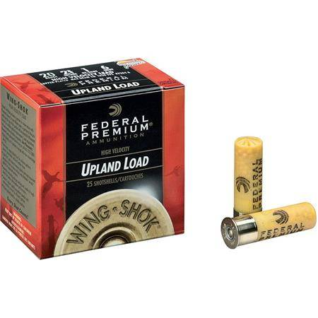 Cartouche De Chasse Federal Premium Wing Shok Magnum - 36G - Calibre 20/76