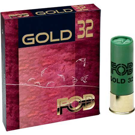 CARTOUCHE DE CHASSE FOB GOLD 32 - 32G - CALIBRE 16