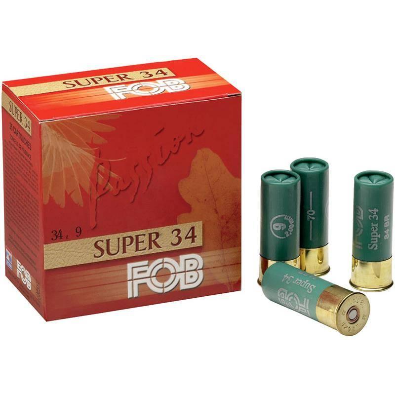 Cartouche De Chasse Fob Passion Super 34 - 34G - Calibre 12