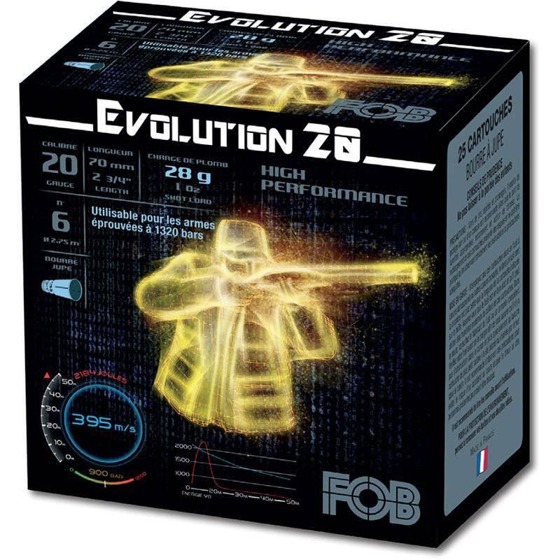 Cartouche De Chasse Fob Performance Evolution 20 Hp - 28G - Calibre 20