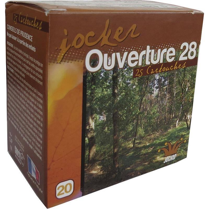 CARTOUCHE DE CHASSE JOCKER OUVERTURE 28 BG - 28G - CALIBRE 20