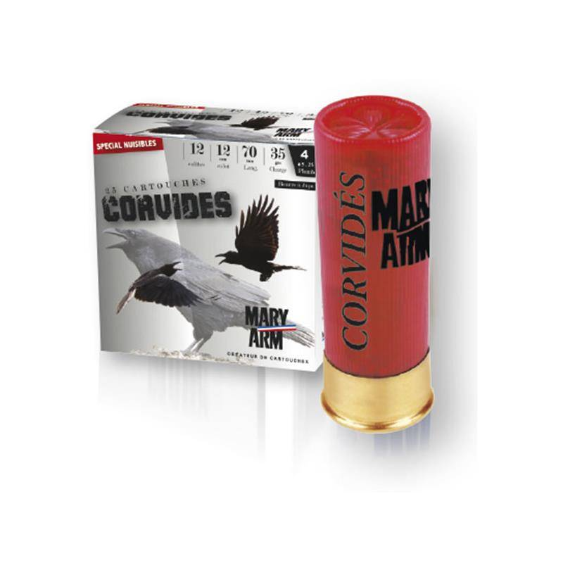 CARTOUCHE DE CHASSE MARY ARM CORVIDES - 35G - CALIBRE 12