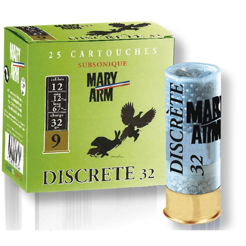 Cartouche De Chasse Mary Arm Discrete 32 - 32G - Calibre 12