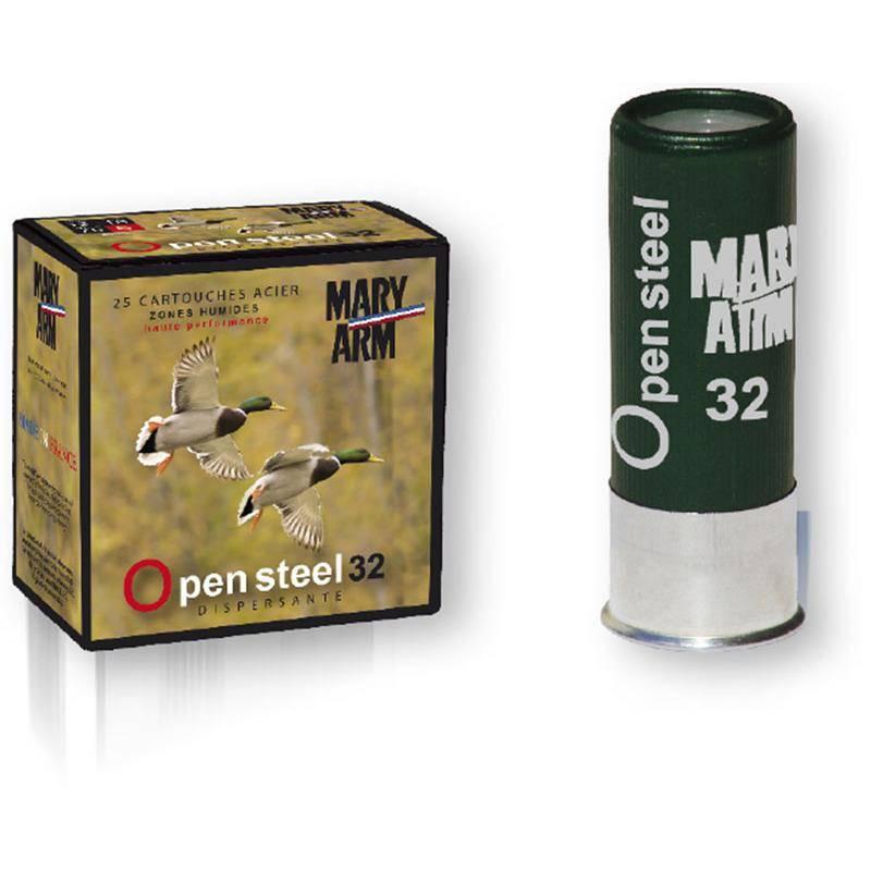 Cartouche De Chasse Mary Arm Open Steel 32 Acier - 32G - Calibre 12