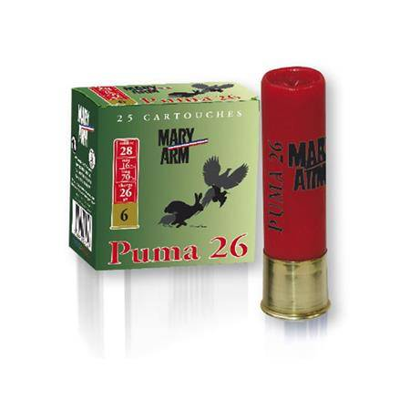 Cartouche De Chasse Mary Arm Puma 26 - 26G - Calibre 28