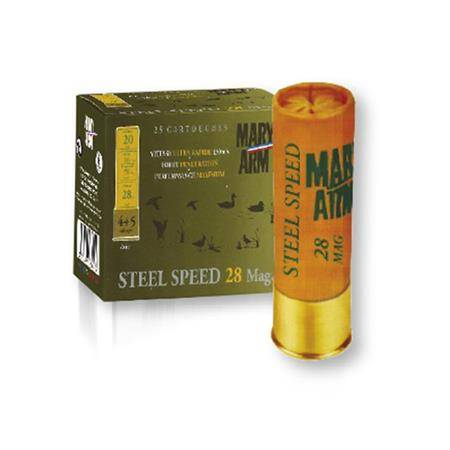 Cartouche De Chasse Mary Arm Steel Speed 28 Mag - 28G - Calibre 20