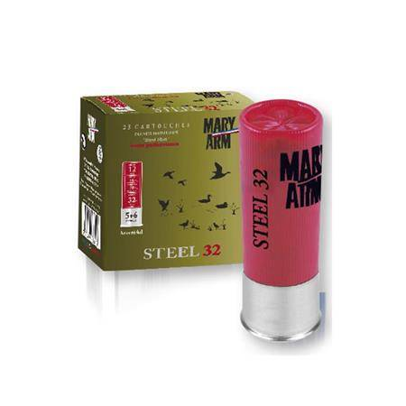 CARTOUCHE DE CHASSE MARY ARM SUPER STEEL 32 - 32G - CALIBRE 12