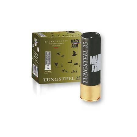 Cartouche De Chasse Mary Arm Tungsteel 25 - 25G - Calibre 20