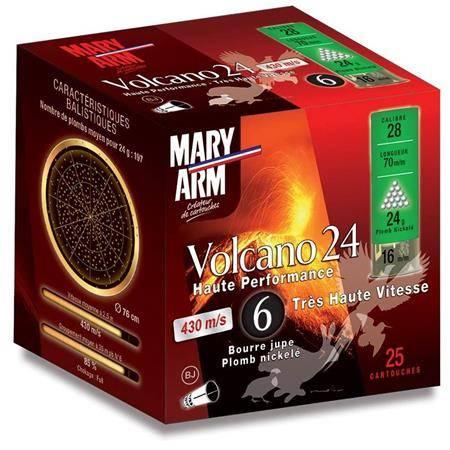 Cartouche De Chasse Mary Arm Volcano 24 Bj - 24G - Calibre 28