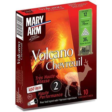 Cartouche De Chasse Mary Arm Volcano Chevreuil 36 Bj - 36G - Calibre 12