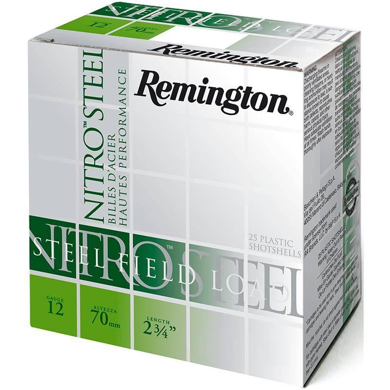 Cartouche De Chasse Remington Nitro Steel Jupe - 32G - Calibre 12/70