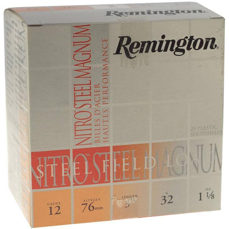 Cartouche De Chasse Remington Nitro Steel Magnum - 32G - Calibre 12/76
