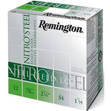 Cartouche de chasse remington nitro steel shot - 34g - calibre 12/70