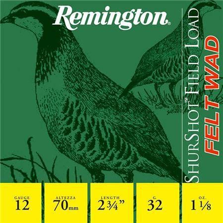 Cartouche De Chasse Remington Shurshot Bg - 32G - Calibre 12
