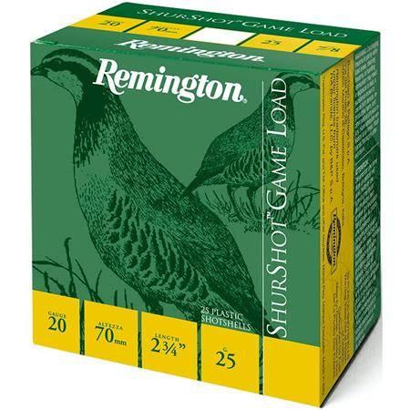 Cartouche De Chasse Remington Shurshot Jupe - 25G - Calibre 20
