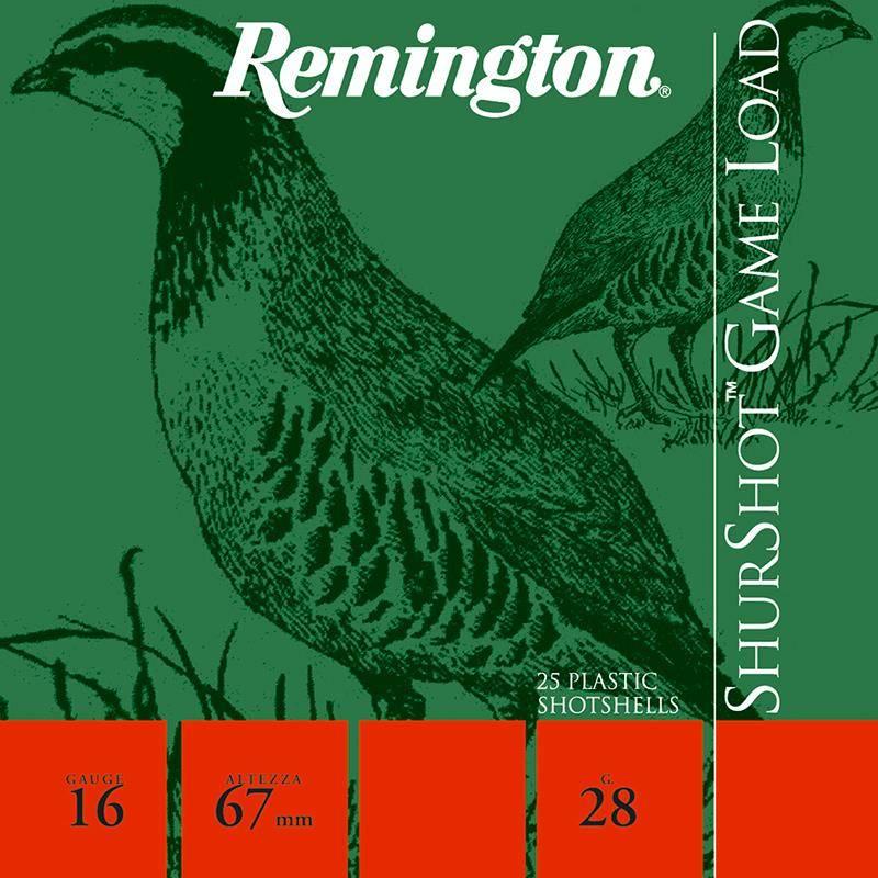 Cartouche De Chasse Remington Shurshot Jupe - 28G - Calibre 16