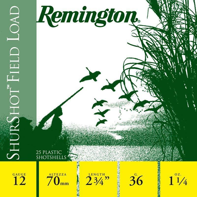Cartouche De Chasse Remington Shurshot Jupe - 36G - Calibre 12