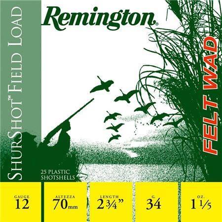 Cartouche De Chasse Remington Shurtshot Grasse - 34G - Calibre 12