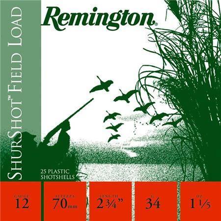 Cartouche De Chasse Remington Shurtshot Jupe - 34G - Calibre 12