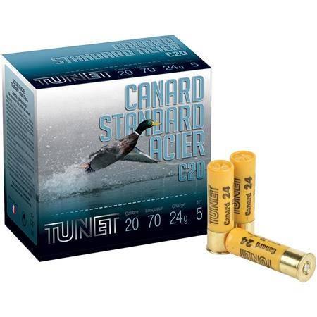 Cartouche De Chasse Tunet Canard Standard - 24G - Calibre 20