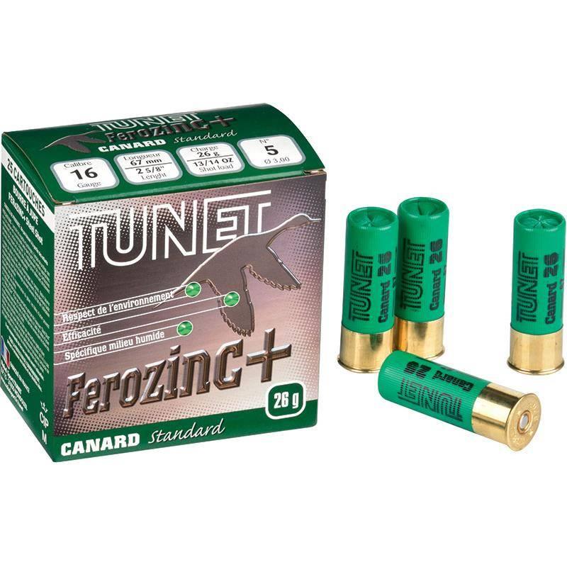 Cartouche De Chasse Tunet Canard Standard - 26G - Calibre 16