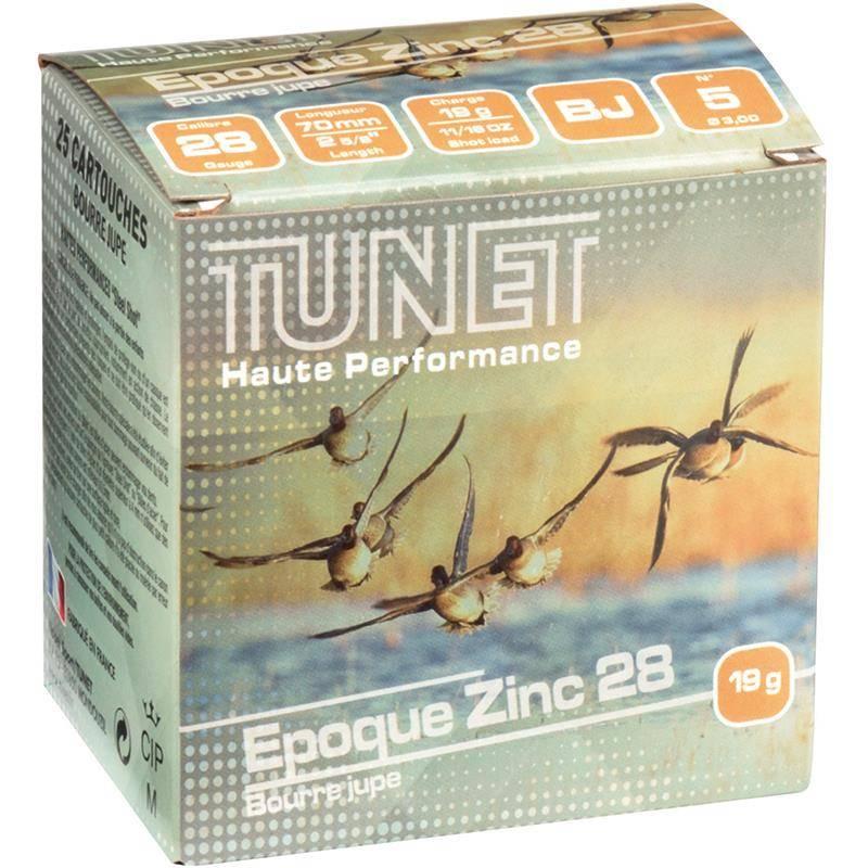 Cartouche De Chasse Tunet Epoque Zinc 21 Bj 19G - Calibre 28