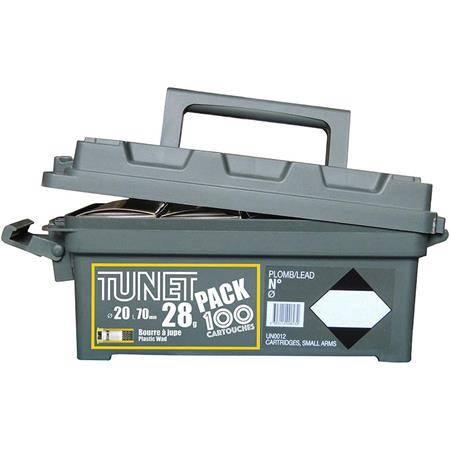 Cartouche De Chasse Tunet Pack Boite Plastique - 28G - Calibre 20