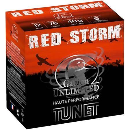 Cartouche De Chasse Tunet Red Storm Hp Cuivre Etain - 40G - Calibre 12