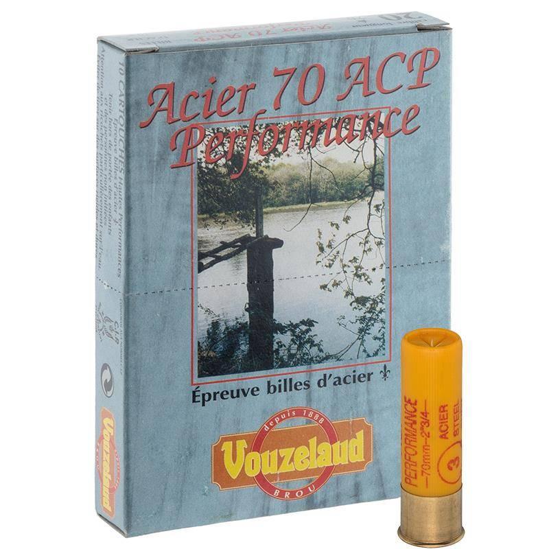 Cartouche De Chasse Vouzelaud Acier 70 Acp Hautes Performances - 21G - Calibre 20