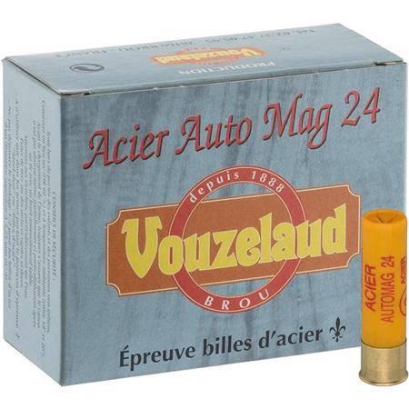 Cartouche De Chasse Vouzelaud Acier Auto Mag 24 - 24G - Calibre 20