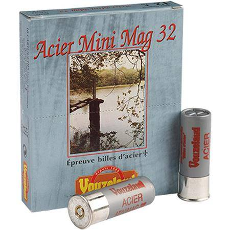 Cartouche De Chasse Vouzelaud Acier Mini Mag 32 - 32G - Calibre 12