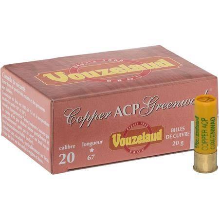 Cartouche De Chasse Vouzelaud Copper Acp Greenwad - 20G - Calibre 20