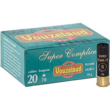 Cartouche De Chasse Vouzelaud Super Complice 70 - 28G - Calibre 20