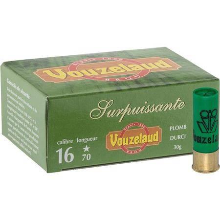 Cartouche De Chasse Vouzelaud Surpuissante - 30G - Calibre 16