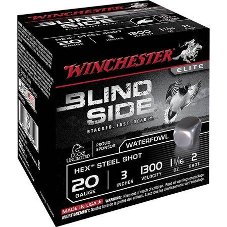 CARTOUCHE DE CHASSE WINCHESTER BLIND SIDE - 30G - CALIBRE 20/76